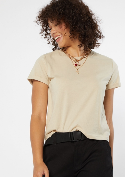 ROLL SLEEVE COTTON BOXY T placeholder image