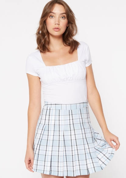 white ruched bust top - Main Image