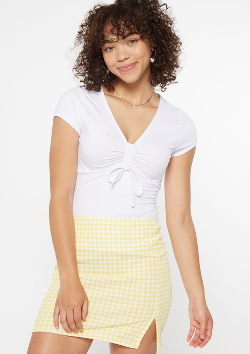 RUCHED BUST SEAM TEE placeholder image