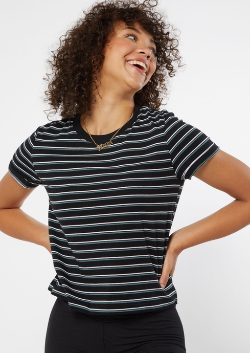 SS STRIPE COTTON BOXY TEE placeholder image