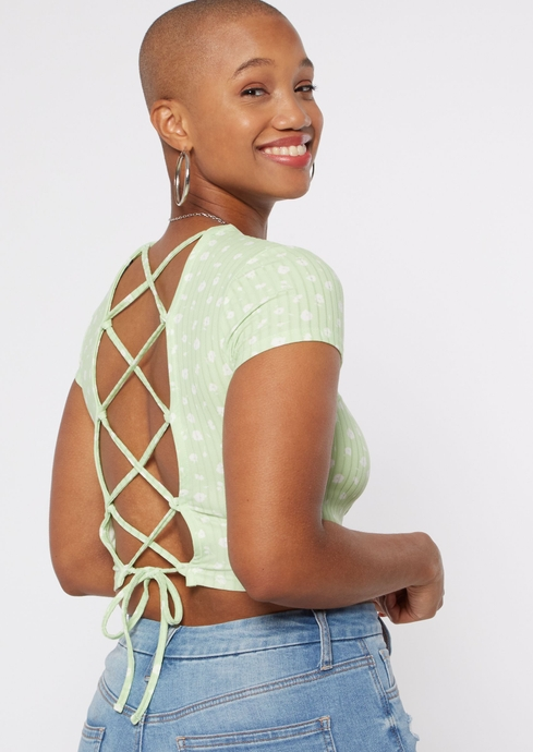 DITSY FLORAL RIB LACE UP placeholder image