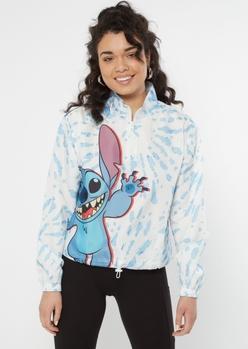 blue tie dye stitch windbreaker - Main Image