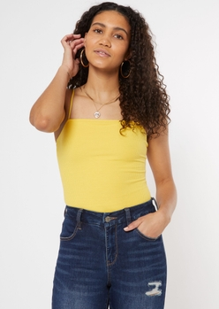 yellow double lined bodysuit - Main Image
