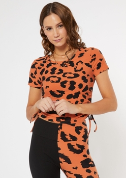 MB LEOPARD SS CINCH TOP placeholder image