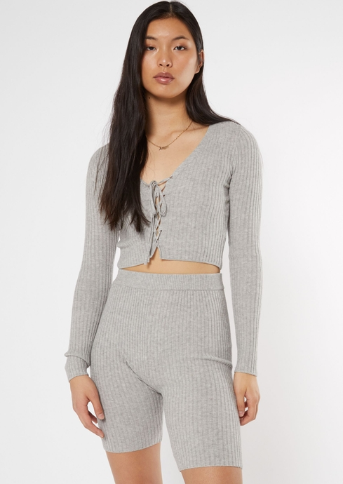MB RIBBED LS LACE UP SWEA placeholder image