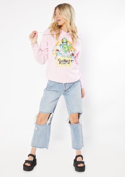 pink rugrats airbrush graphic hoodie - Main Image