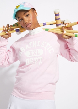 lavender unathletic drip sweatshirt - Main Image