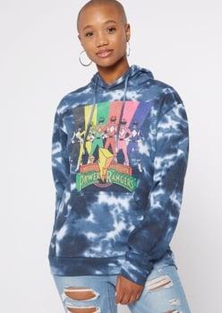 blue tie dye power rangers hoodie - Main Image