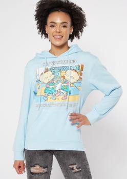 light blue rugrats meme graphic hoodie - Main Image