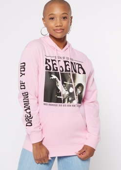 pink selena graphic hoodie - Main Image