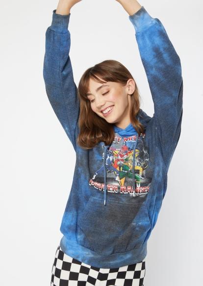 tie dye power rangers graphic hoodie - Main Image