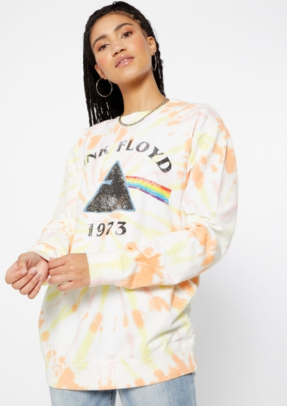citrus tie dye pink floyd graphic sweater - Main Image