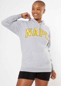 heather gray naps graphic hoodie - Main Image