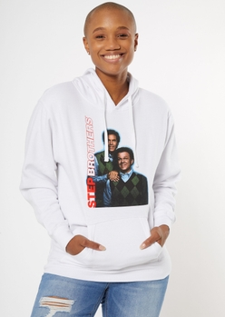 best friends step brothers portrait graphic hoodie - Main Image