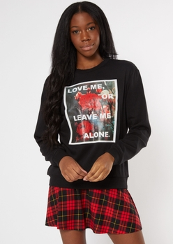 black love or leave me rose graphic sweatshirt - Main Image
