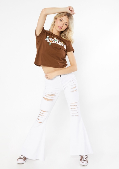 brown rugrats embroidered tee - Main Image