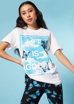 life is good cloud graphic tee - Main Image