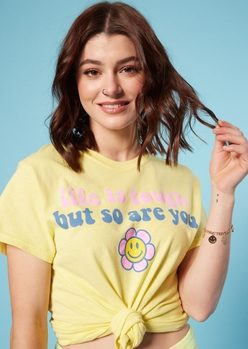 yellow life is tough graphic tee - Main Image