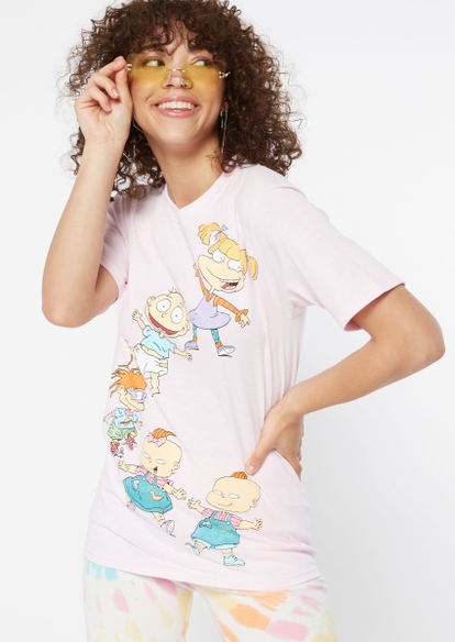 light pink classic rugrats graphic tee - Main Image