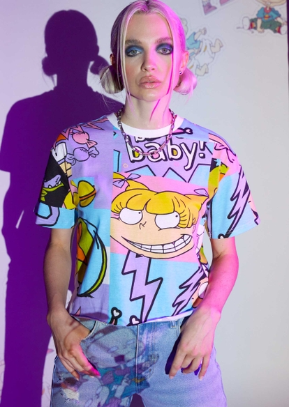 rugrats boxy cropped graphic tee - Main Image