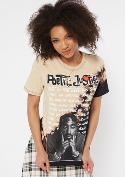 bleach wash poetic justice graphic tee - Main Image