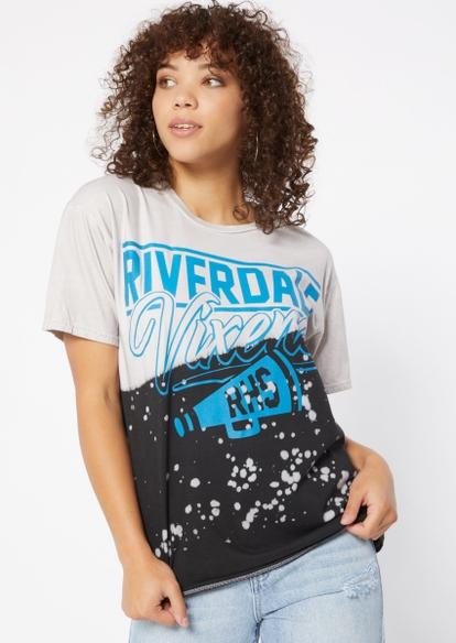 blue dip dye riverdale vixens graphic tee - Main Image