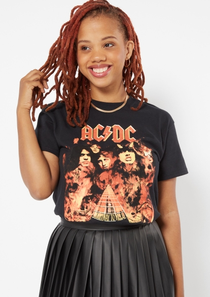 highway to hell flame acdc graphic tee - Main Image