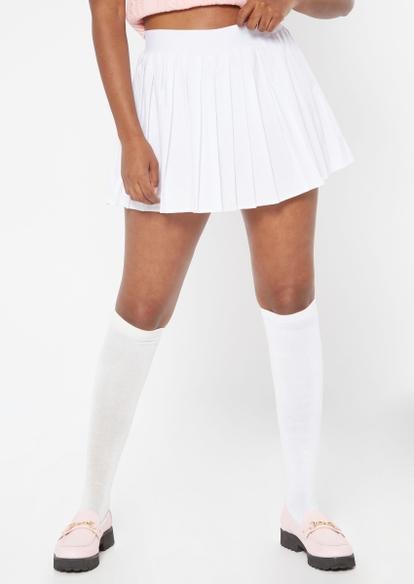 white pleated skort - Main Image
