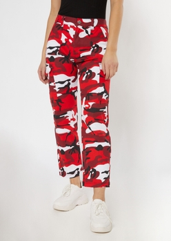 RED CAMO WIDE LEG CARGO placeholder image