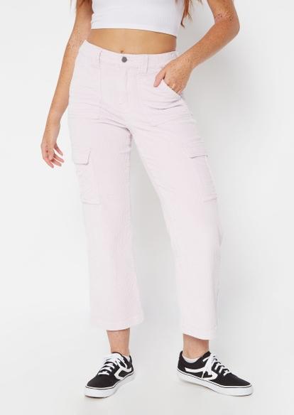 lilac corduroy wide leg pants - Main Image