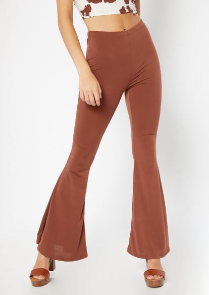 brown super soft flare pants - Main Image