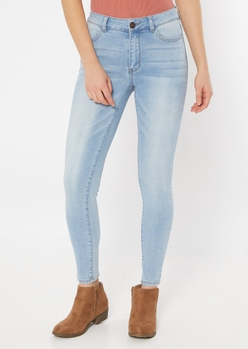 ultimate stretch light wash high waisted jeggings in regular - Main Image
