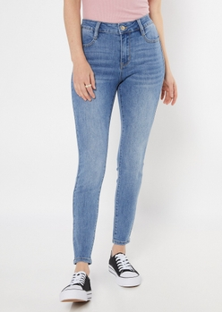 ultimate stretch medium wash high waisted jeggings in regular - Main Image