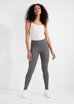heather gray super soft pocket leggings - Main Image