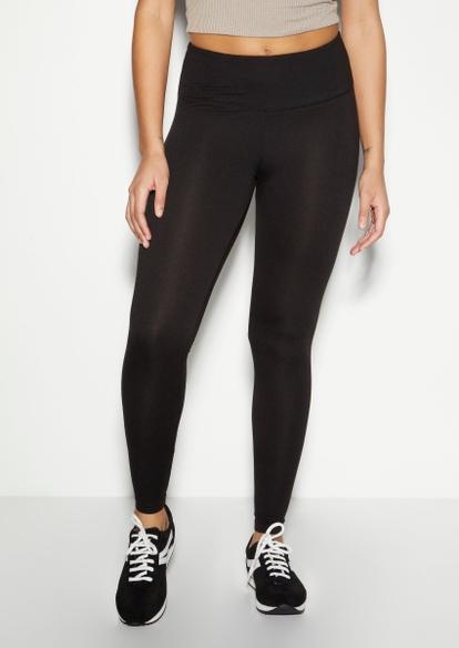 black high waisted super soft leggings - Main Image