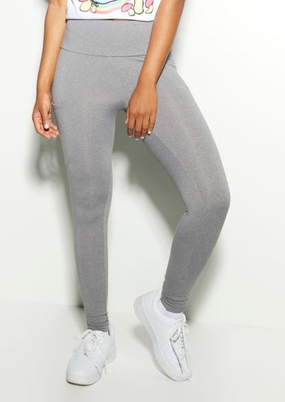 gray fleece lined cell pocket leggings - Main Image