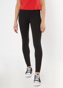 black ruched back super soft leggings - Main Image