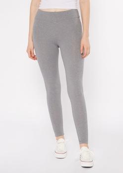 gray ruched back super soft leggings - Main Image