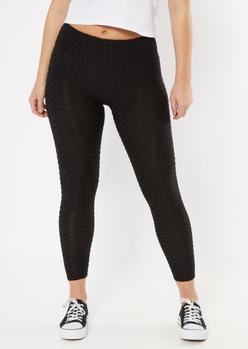 black honeycomb leggings - Main Image