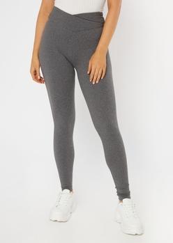 gray v waistband super soft leggings - Main Image