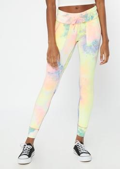pastel tie dye pocket leggings - Main Image