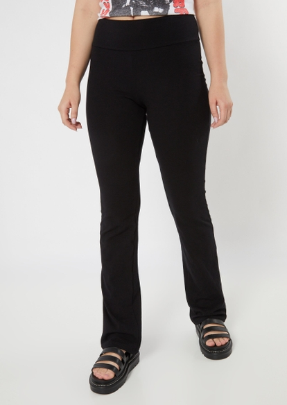 black yoga flare pants - Main Image