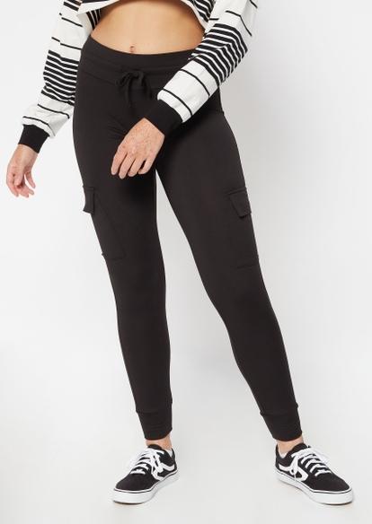 black super soft jogger leggings - Main Image