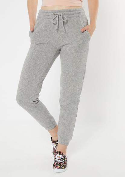 heather gray skinny joggers - Main Image