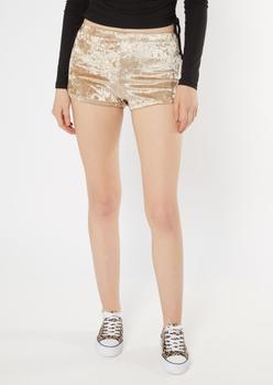 champagne velvet dolphin shorts - Main Image