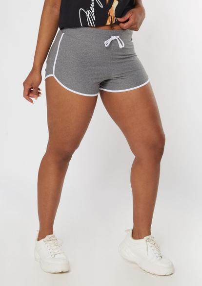 heather gray super soft dolphin shorts - Main Image