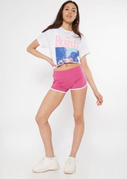 fuchsia cotton dolphin shorts - Main Image