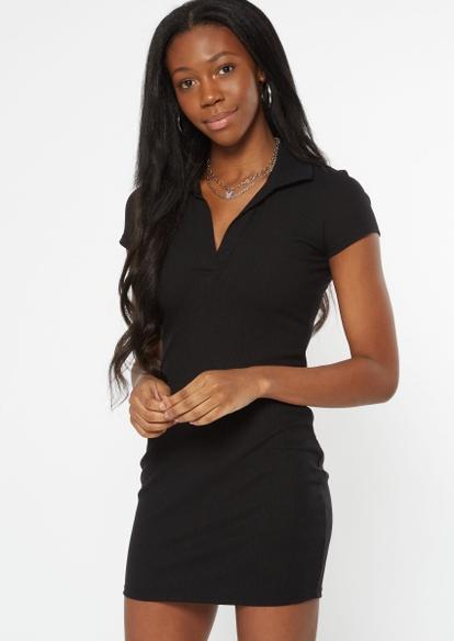 black polo mini dress - Main Image