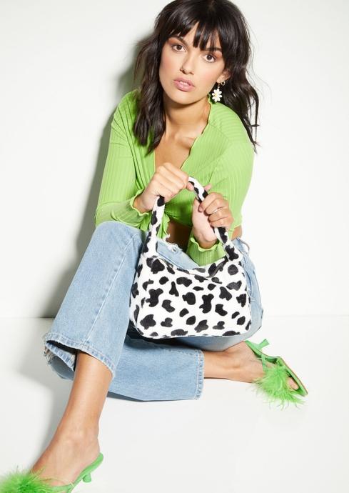FUR COW PRINT BAG placeholder image