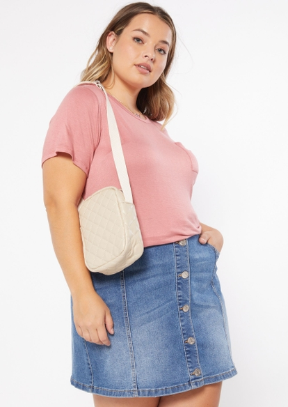 ivory quilted mini bag - Main Image